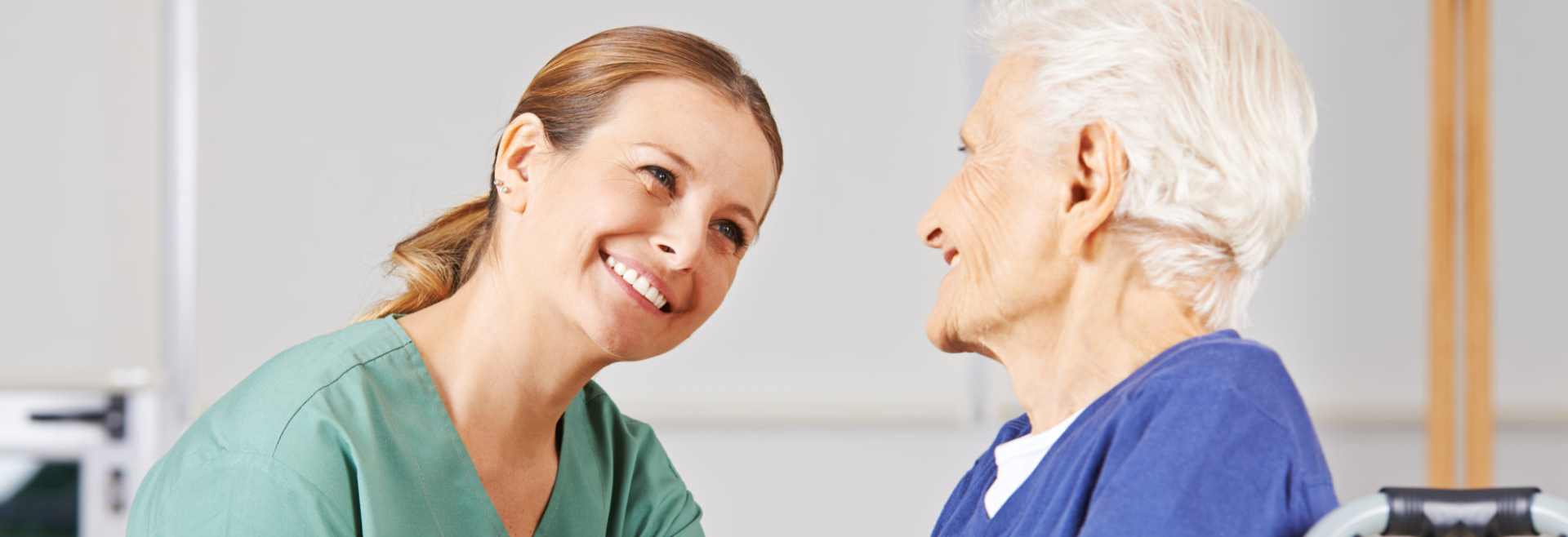 Elder patient and caregiver